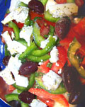 a bowl of tasty Greek salad