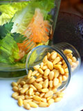 fresh pine nuts for the mixed salad