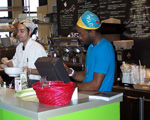 employees busy at work at the Jivamuk Tea Cafe